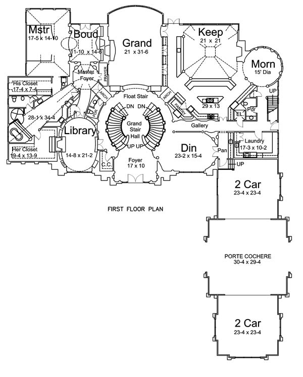 1st Floor Plan image of Featured House Plan: BHG - 6047