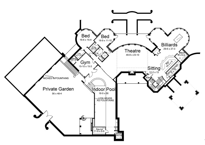 Basement image of Featured House Plan: BHG - 6039