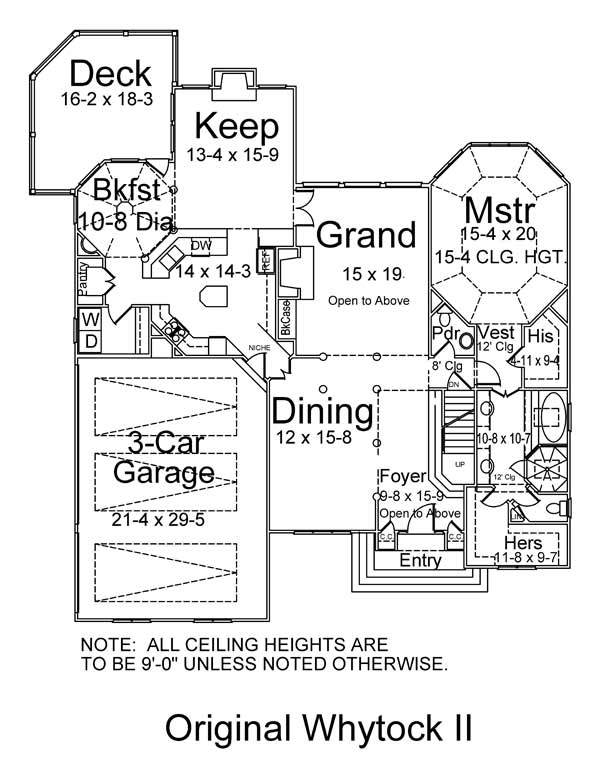 1st Floor Plan image of Featured House Plan: BHG - 5986