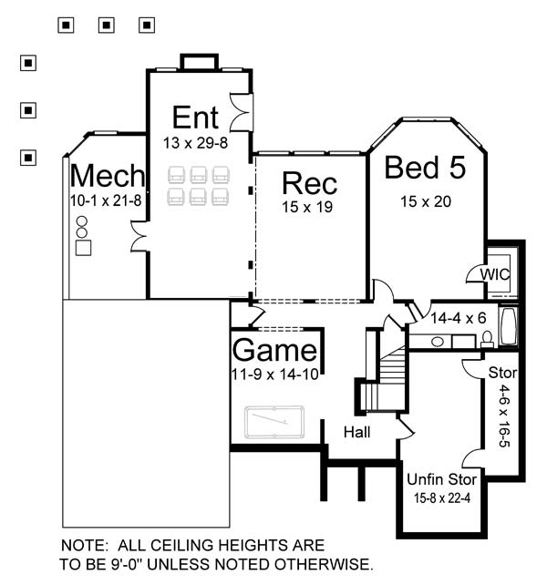 Basement image of Featured House Plan: BHG - 5986