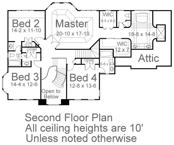 2nd Floor Plan image of Featured House Plan: BHG - 5984