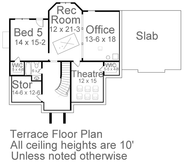 Terrace Floor Plan image of Featured House Plan: BHG - 5984