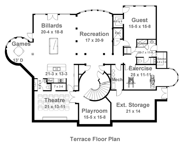 Terrace image of Featured House Plan: BHG - 6016
