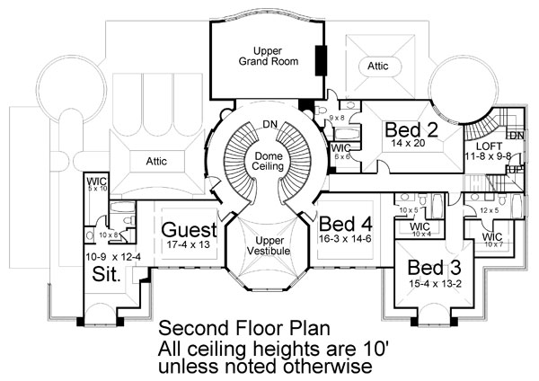 2nd Floor Plan image of Featured House Plan: BHG - 6034
