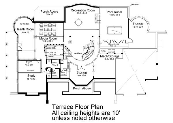 Terrace Floor Plan image of Featured House Plan: BHG - 6034