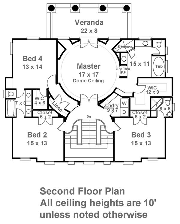 2nd Floor Plan image of Featured House Plan: BHG - 6481