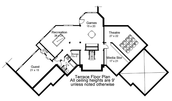 Terrace Floor Plan image of Featured House Plan: BHG - 7902
