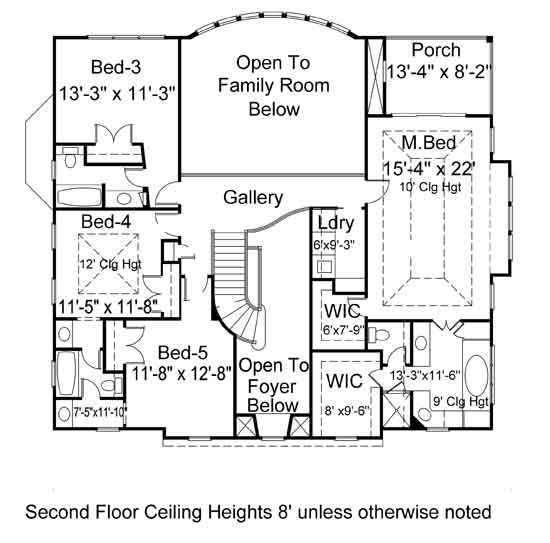 2nd Floor Plan image of Featured House Plan: BHG - 7164