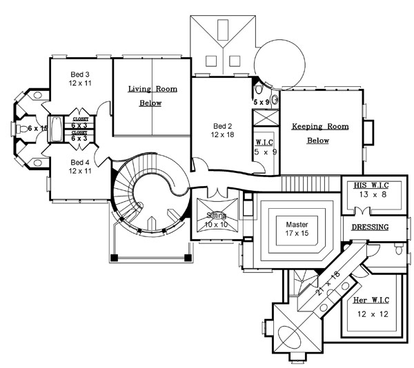 2nd Floor Plan image of Featured House Plan: BHG - 8216