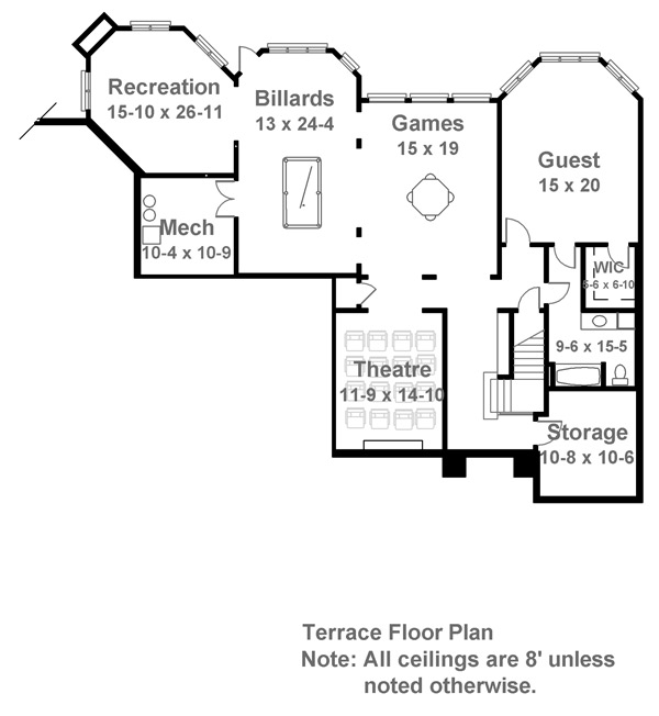 Basement image of Featured House Plan: BHG - 7930