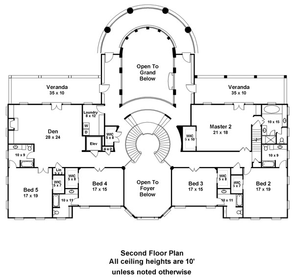 Second Floor Plan image of Featured House Plan: BHG - 6138