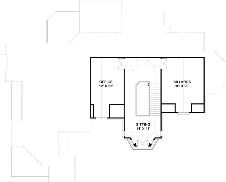 3rd Floor Plan image of Featured House Plan: BHG - 6163