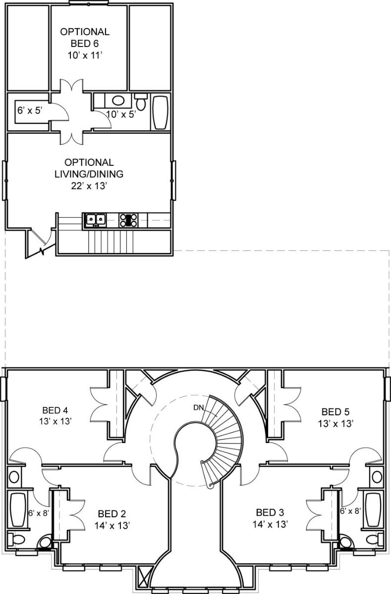 Second Floor Plan image of Featured House Plan: BHG - 5992