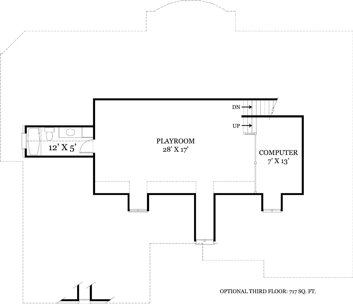 Optional Third Floor image of Featured House Plan: BHG - 7889