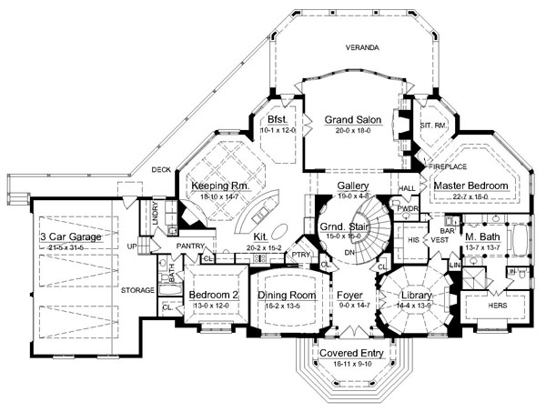 2nd Floor Plan image of Featured House Plan: BHG - 6009