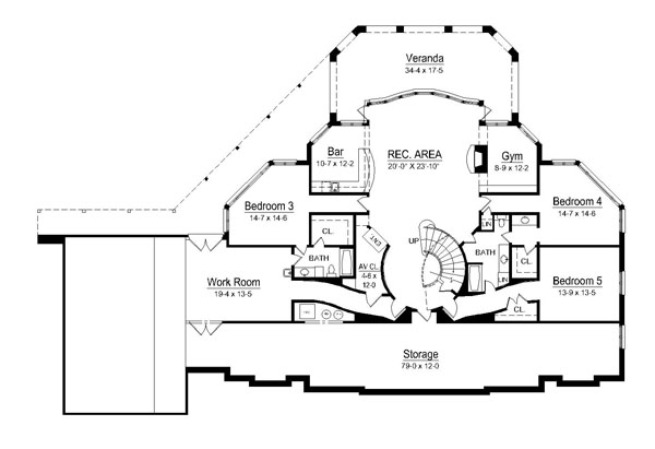 1st Floor Plan image of Featured House Plan: BHG - 6009