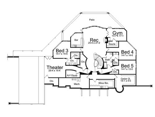 2nd Floor Plan image of Featured House Plan: BHG - 7934