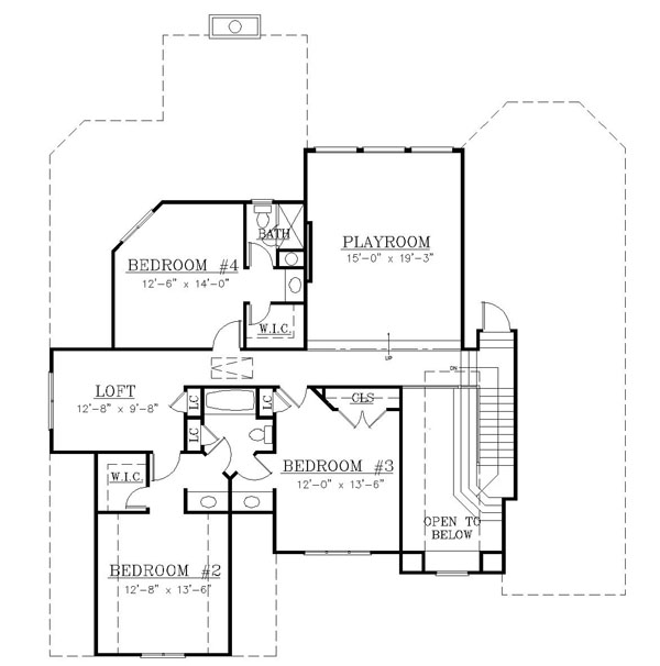 2nd Floor Plan image of Featured House Plan: BHG - 7973