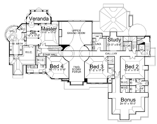 2nd Floor Plan image of Featured House Plan: BHG - 6147