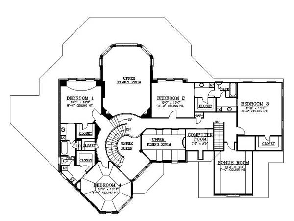 2nd Floor Plan image of Featured House Plan: BHG - 6155