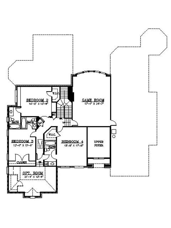 2nd Floor Plan image of Featured House Plan: BHG - 6157