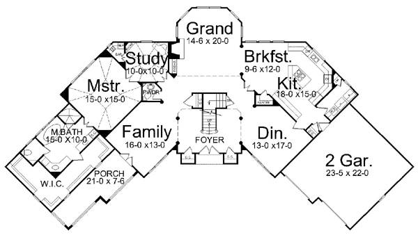1st Floor Plan image of Featured House Plan: BHG - 7902