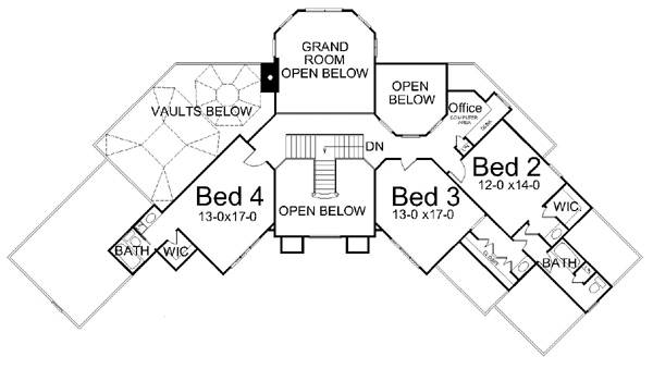 2nd Floor Plan image of Featured House Plan: BHG - 7902
