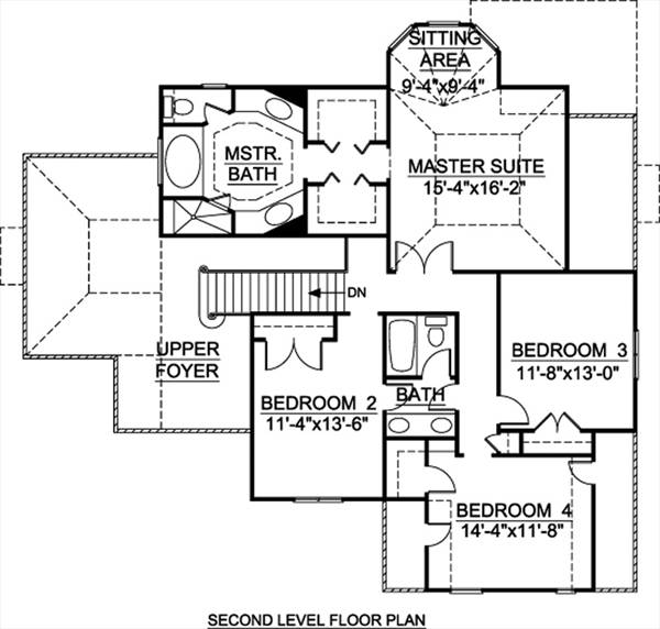 2nd Floor Plan image of Featured House Plan: BHG - 8016
