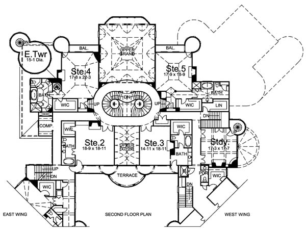 2nd Floor Plan image of Featured House Plan: BHG - 6048
