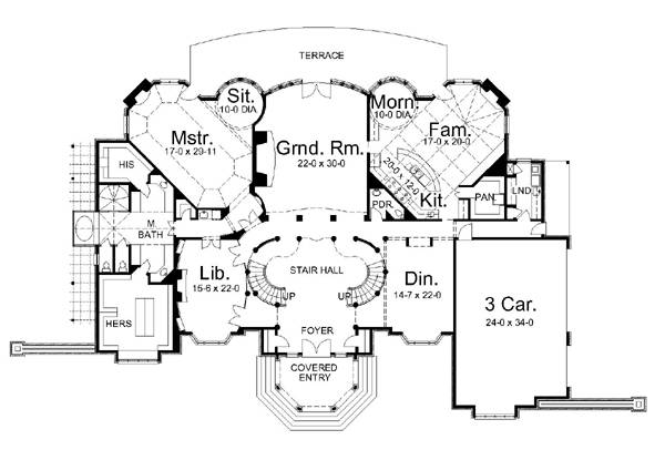 1st Floor Plan image of Featured House Plan: BHG - 6036