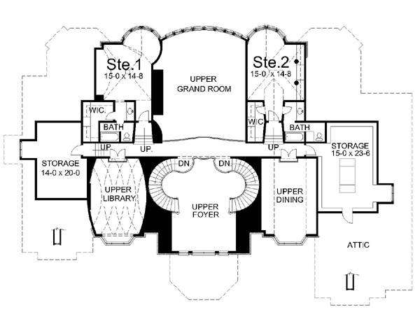 2nd Floor Plan image of Featured House Plan: BHG - 6036