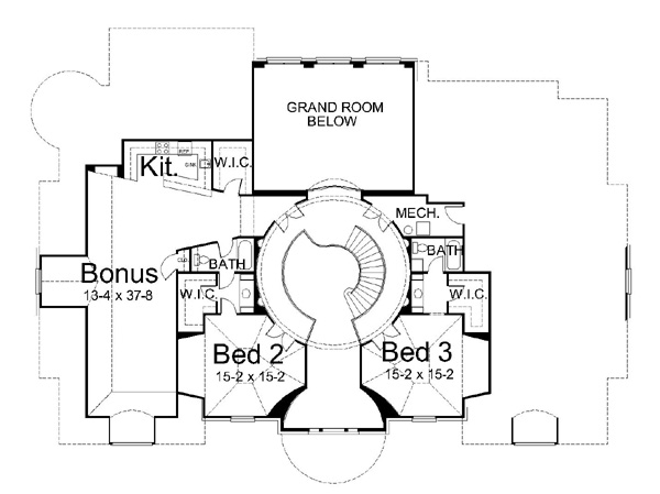 2nd Floor Plan image of Featured House Plan: BHG - 6012