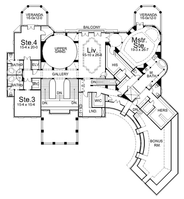 2nd Floor Plan image of Featured House Plan: BHG - 6044