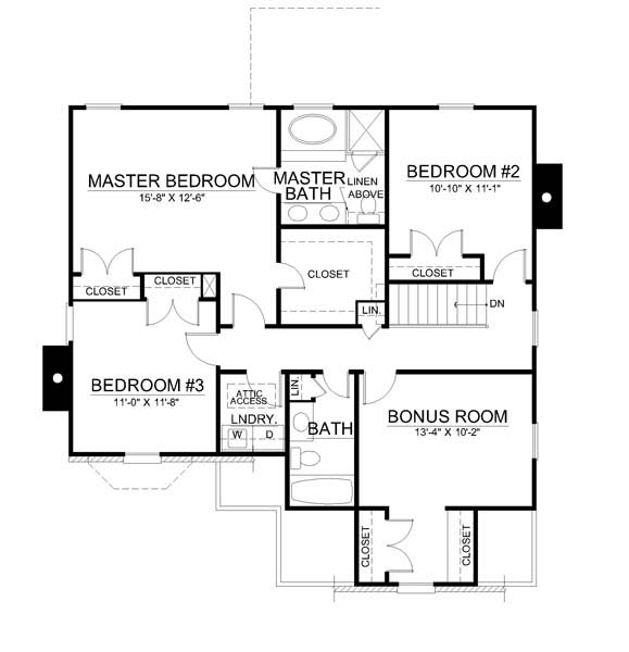 2nd Floor Plan image of Featured House Plan: BHG - 7724