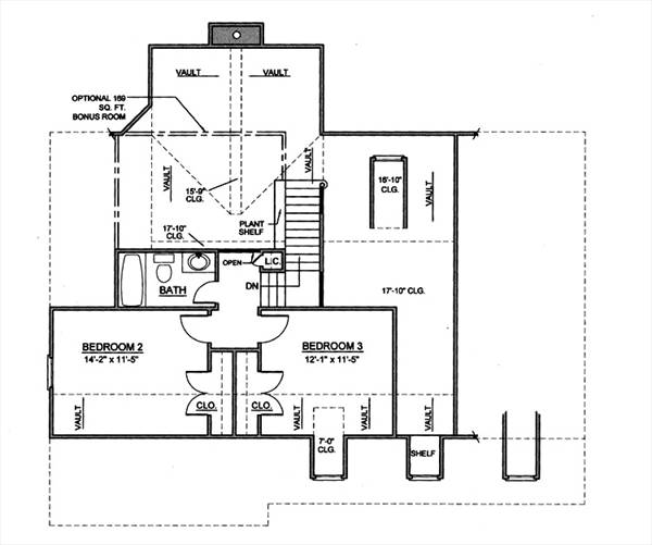 2nd Floor Plan image of Featured House Plan: BHG - 8023