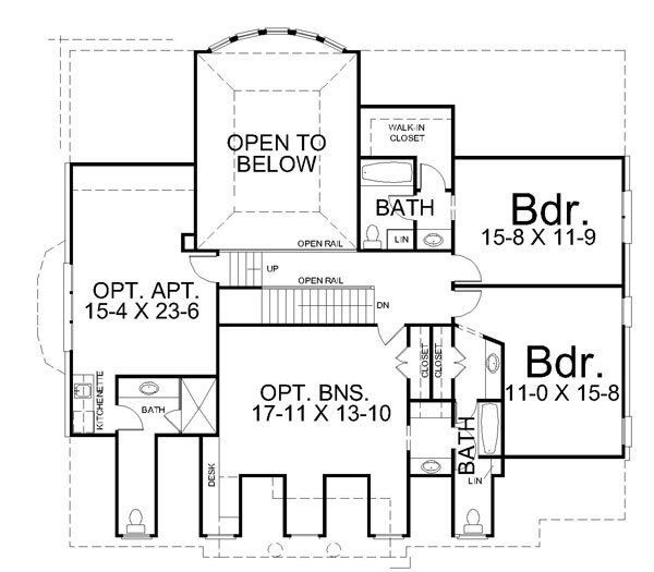 2nd Floor Plan image of Featured House Plan: BHG - 7161
