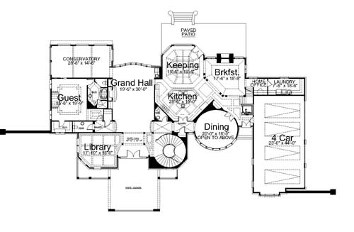 1st Floor Plan image of Featured House Plan: BHG - 7991