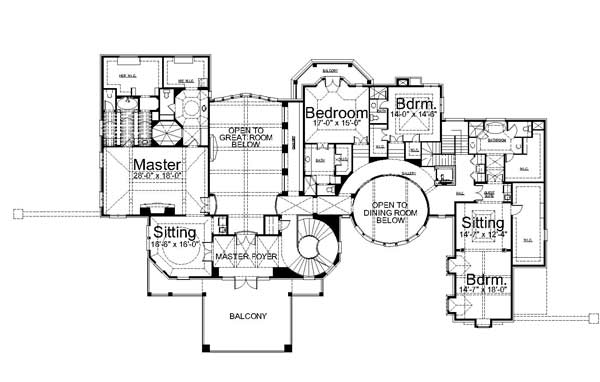 2nd Floor Plan image of Featured House Plan: BHG - 7991