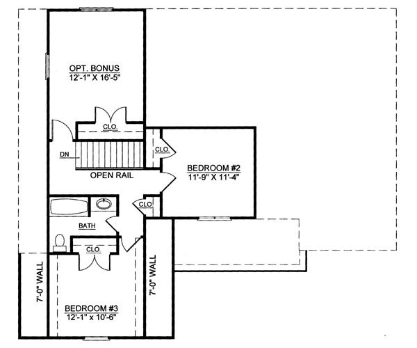 2nd Floor Plan image of Featured House Plan: BHG - 7993