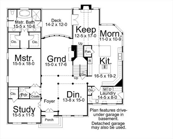 1st Floor Plan image of Featured House Plan: BHG - 7904