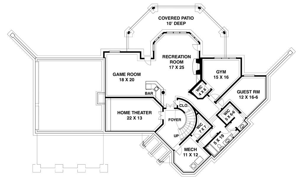 Basement Option image of Featured House Plan: BHG - 7384