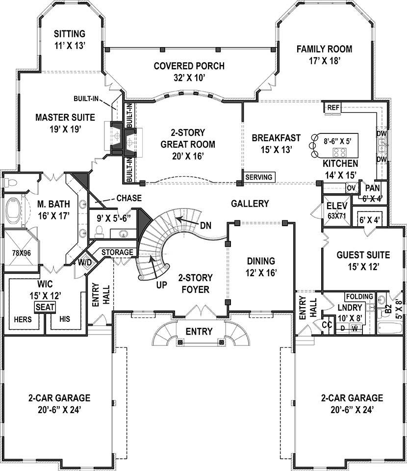 First Floor Plan image of Featured House Plan: BHG - 9326