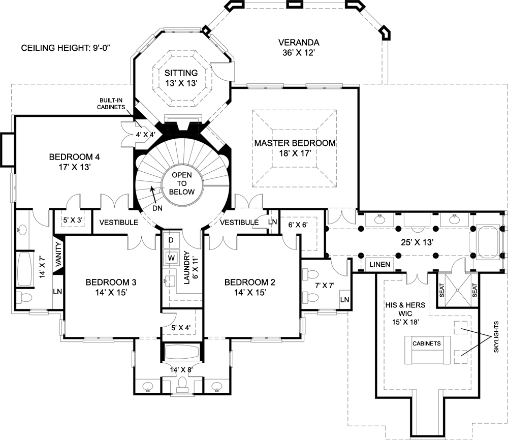 Second Floor Plan image of Featured House Plan: BHG - 7939