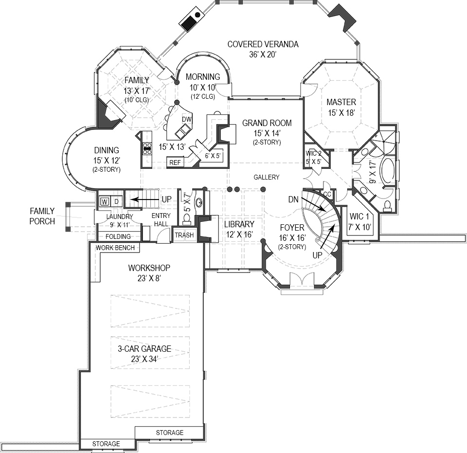 First Floor Plan image of Featured House Plan: BHG - 8093