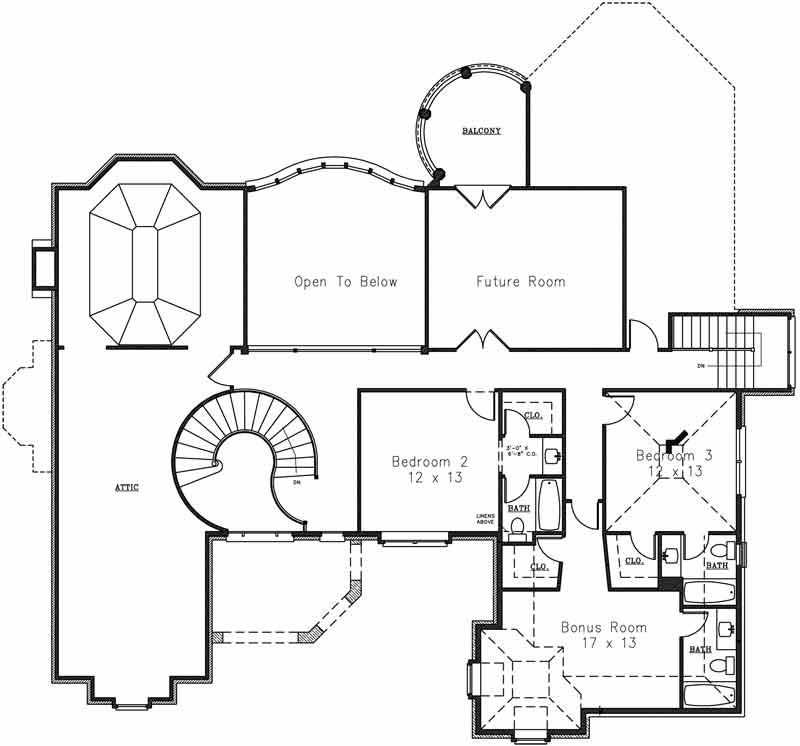 2nd Floor Plan image of Featured House Plan: BHG - 4277