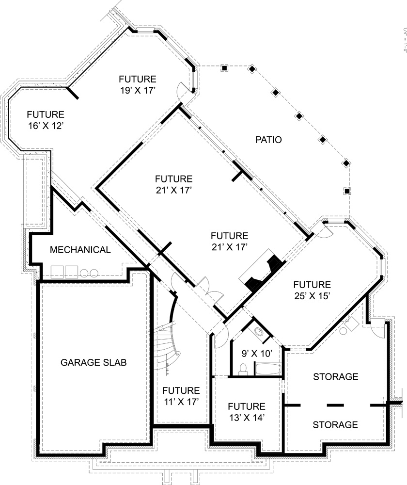 Basement image of Featured House Plan: BHG - 6008