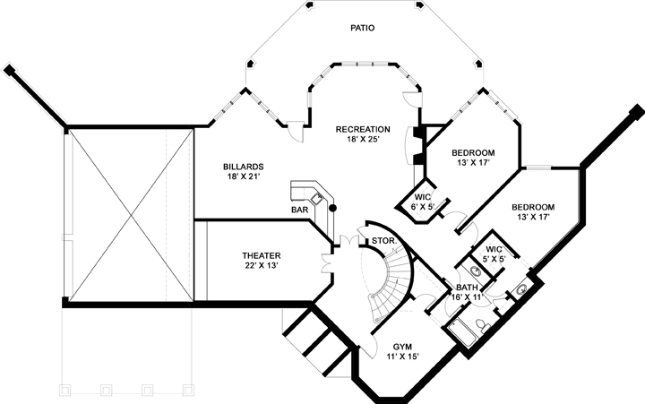 Basement image of Featured House Plan: BHG - 5985