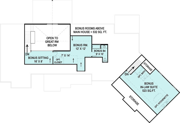 Second Floor Plan image of Featured House Plan: BHG - 9459