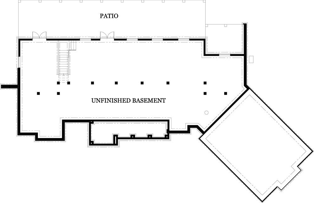 Unfinished Basement image of Featured House Plan: BHG - 4445