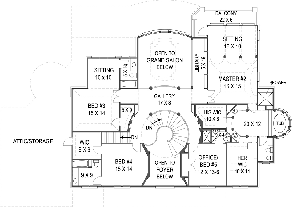 2nd Floor Plan image of Featured House Plan: BHG - 8079